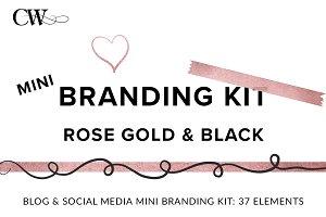 Rose Gold & Black Branding Kit
