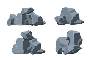 Cartoon stones vector set