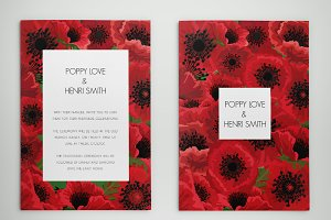 POPPY INVITATIONS - Edit with Word!