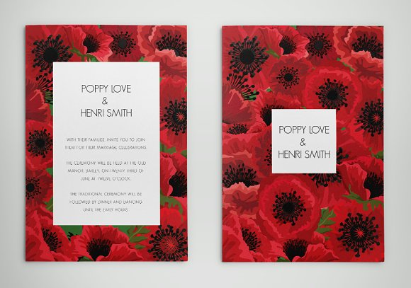 Poppy invitations edit with word invitation templates poppy invitations edit with word invitations stopboris Images