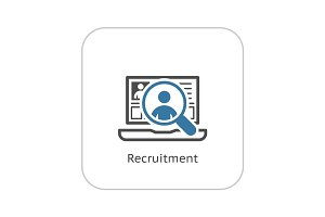 Recruitment Icon. Business Concept. Flat Design.