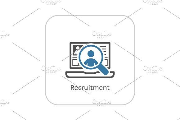 Recruitment Icon Business Concept Flat Design