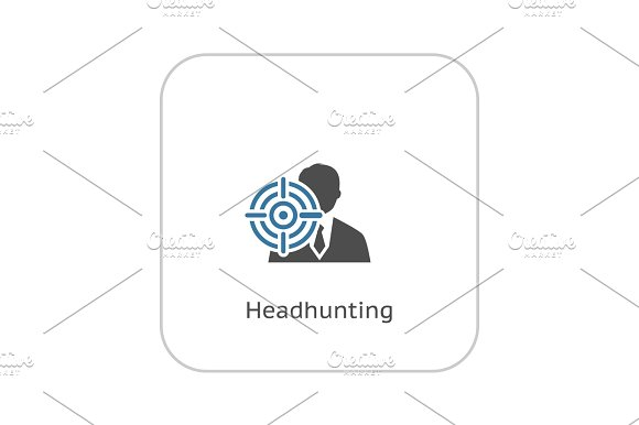 Headhunting Icon Business Concept Flat Design
