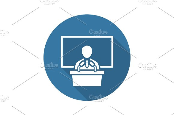 Training Icon Business Concept Flat Design