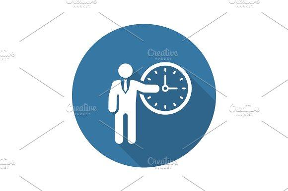 Time Management Icon Business Concept Flat Design