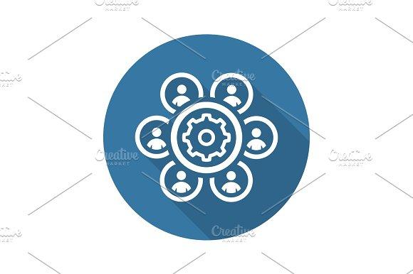Human Resources Management Icon Business Concept Flat Design