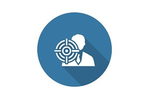Headhunting Icon. Business Concept. Flat Design.