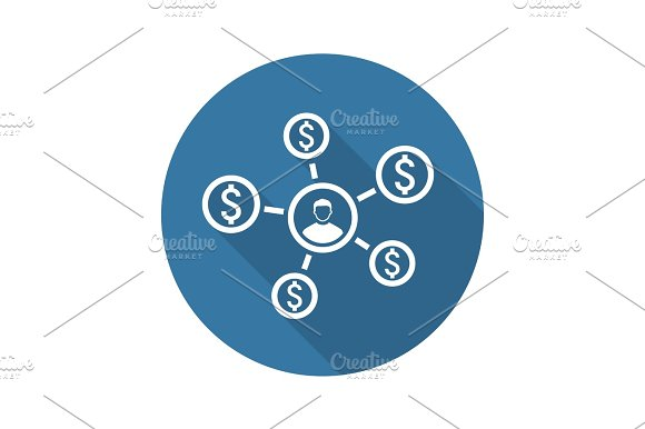 Personal Income Icon Business Concept Flat Design