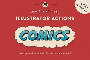 Vintage Comic Press - AI Actions