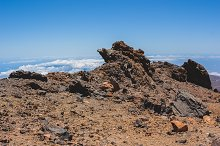Volcanic lava landscape in Tenerife