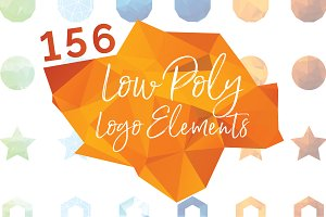 156 Low Poly Logo Elements