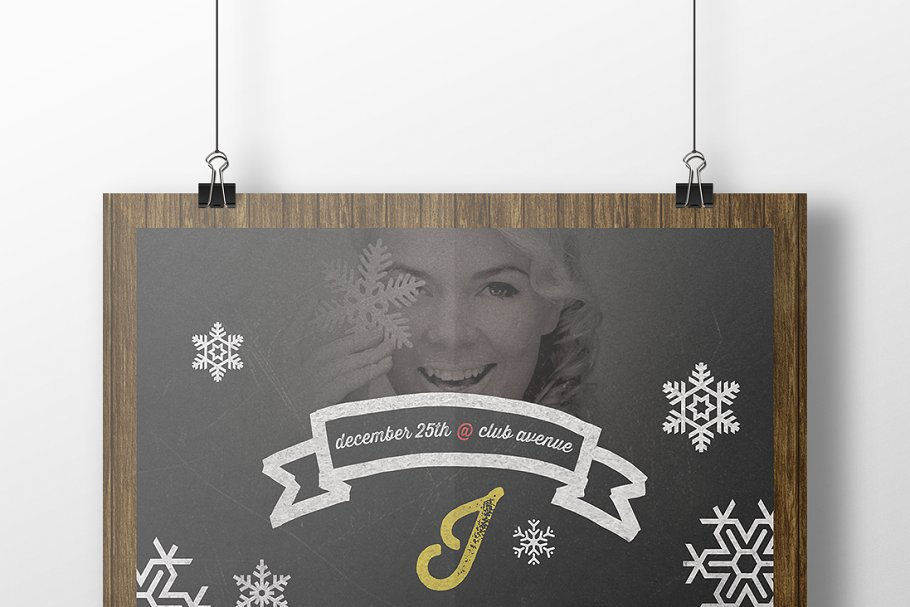 Christmas Flyer Chalkboard Style in Flyer Templates - product preview 8