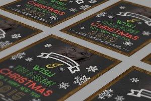 Christmas Flyer Chalkboard Style