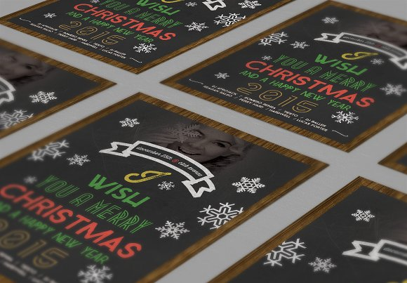 Christmas Flyer Chalkboard Style in Flyer Templates - product preview 1