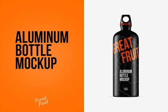 Aluminum Water Bottle PSD Mockup