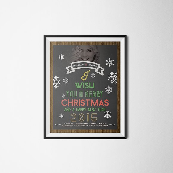 Christmas Flyer Chalkboard Style in Flyer Templates - product preview 2
