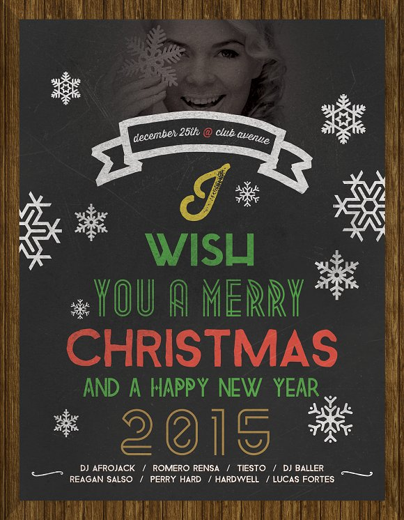 Christmas Flyer Chalkboard Style in Flyer Templates - product preview 3