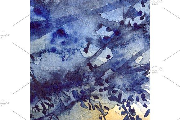 Watercolor Navy Blue Foliage Texture