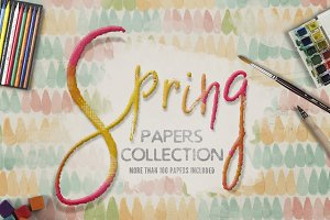 Spring Digital Papers Collections