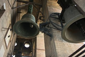 The bells in the tower.