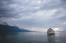 Views of lake genova. Switzerland