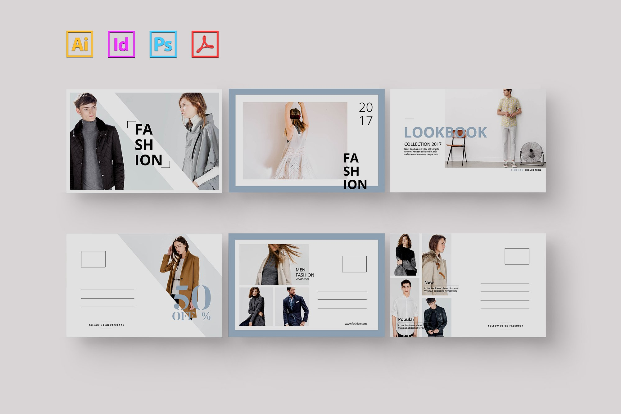 Postcard Fashion ~ Card Templates ~ Creative Market