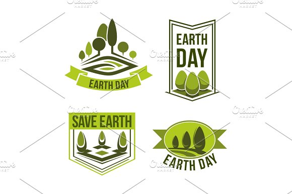 Save Planet Earth Day Vector Green Ecology Icons