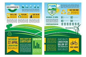 Vector Earth Day information poster or infographic