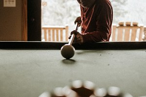 Kid Playing Pool