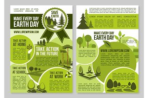Save Planet Nature announcement Earth Day posters