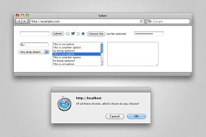 Photoshop Safari Browser Elements