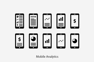 Mobile Analytics, Data, Graph Vector