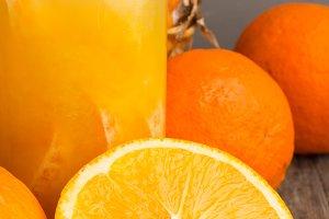juice and fruit close-up