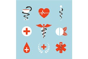 Medical Symbols Emblems and Signs