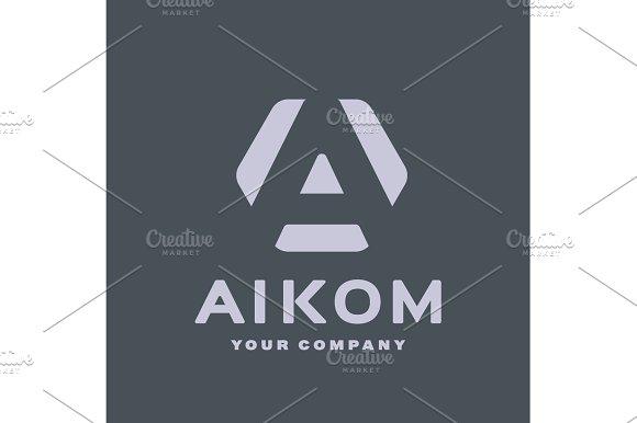 Logo Letter A Flat Style Vector Illustration