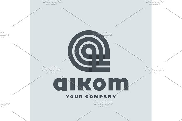 Logo Letter A Flat Style Vector Illustration Of Abstract Sign