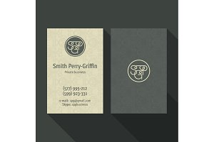 Qualitative elegant Business Card vector logo, and professional layout