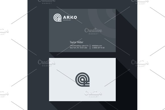 Qualitative Elegant Business Card Vector Abstract Logo And Professional Layout
