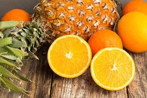 pineapple^oranges close-up