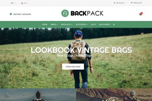 OpenCart Themes - Backpacks Responsive OpenCart Theme