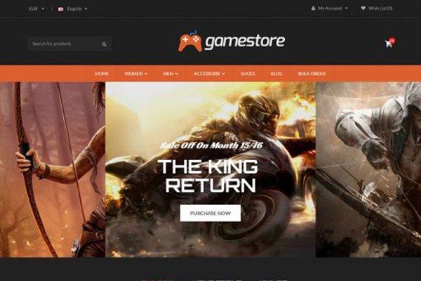 OpenCart Themes - GameStore Responsive OpenCart  Theme