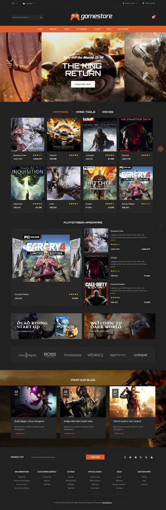 GameStore Responsive OpenCart Theme