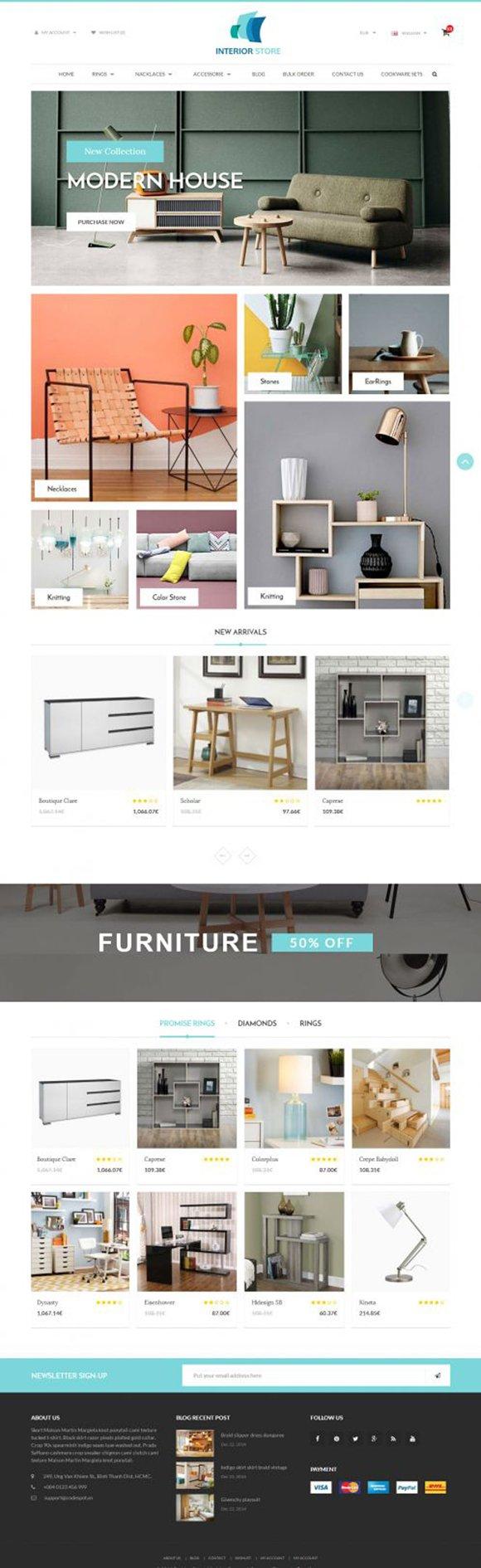 Interior Responsive Opencart Theme
