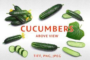 Cucumbers above