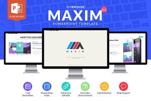 Maxim , Business Powerpoint Template