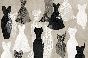 Black and White Lace Dresses