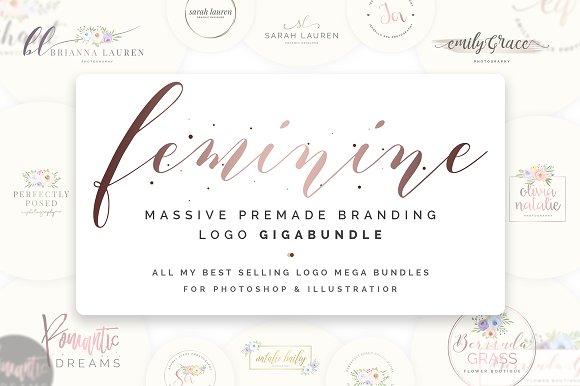 Feminine Premade Logo Gigabundle