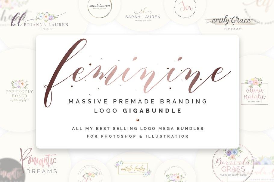 Ladyboss Premade Branding Logos ~ Logo Templates ~ Creative Market