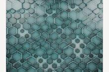 Hexagon abstract glass