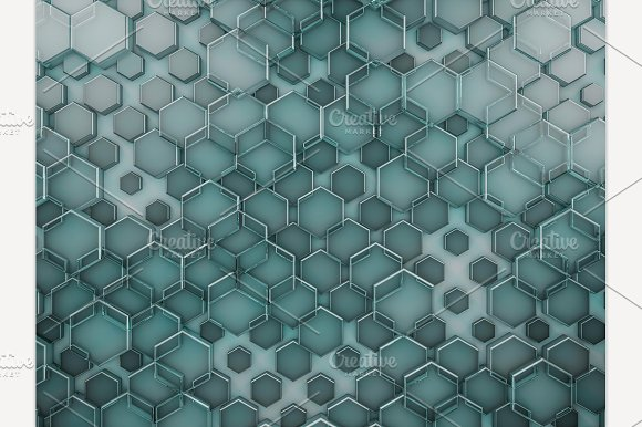Hexagon Abstract Glass